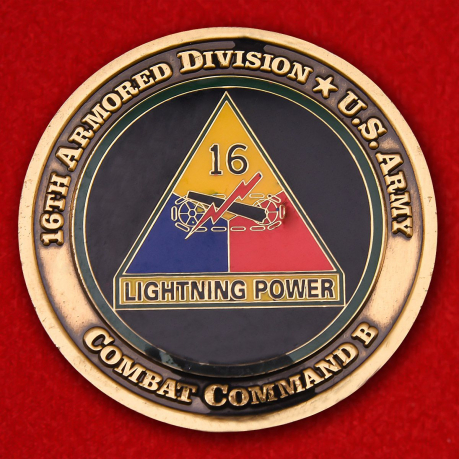 16th Armored Division U.S. Army Challenge Coin
