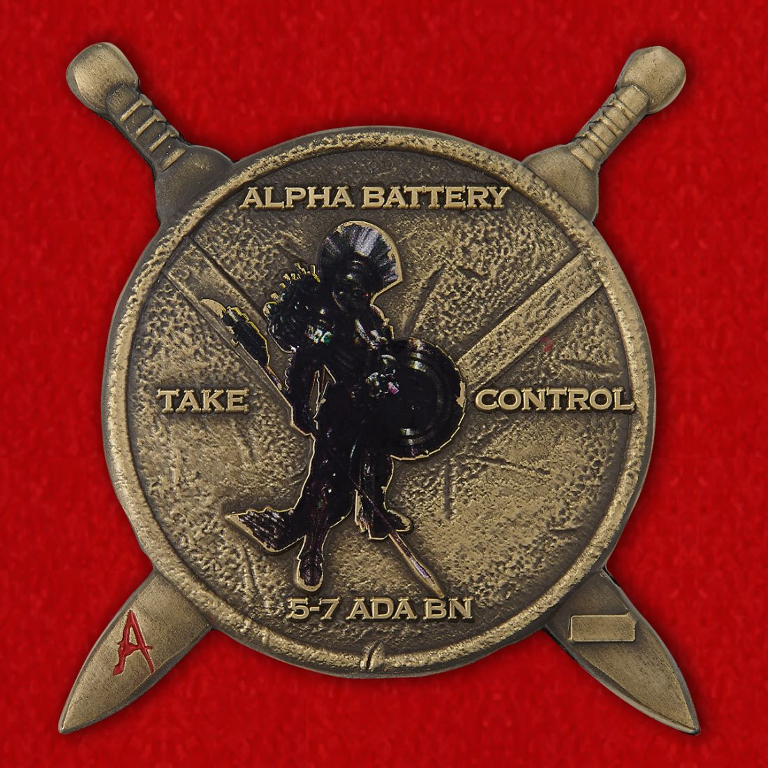 1SG Robinson, CPT Falcon 5-7 ADA BN Challenge Coin