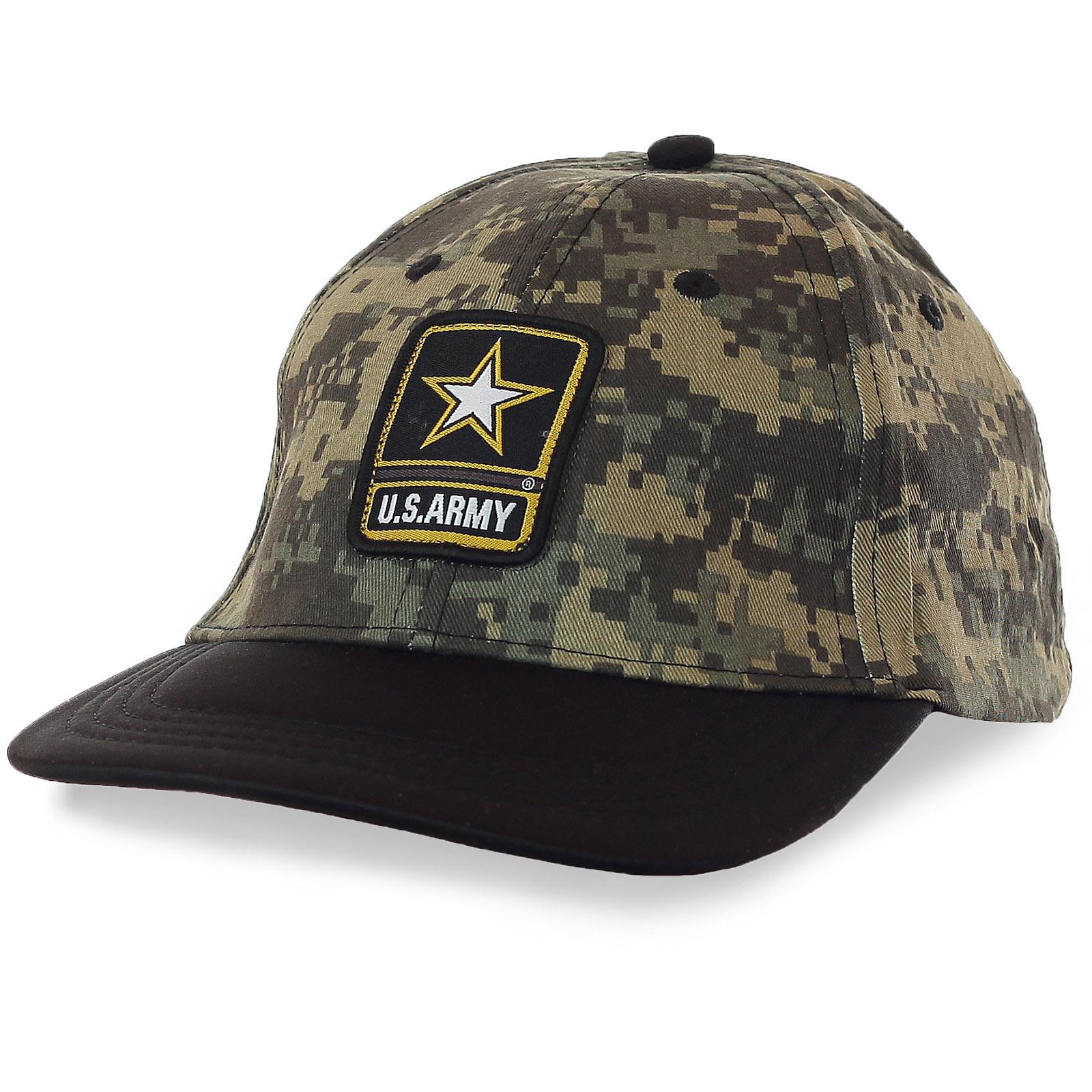 Военная кепка U.S.Army – пиксельный камуфляж «Флора» обеспечивает маскировку и в статичном положении, и в движении