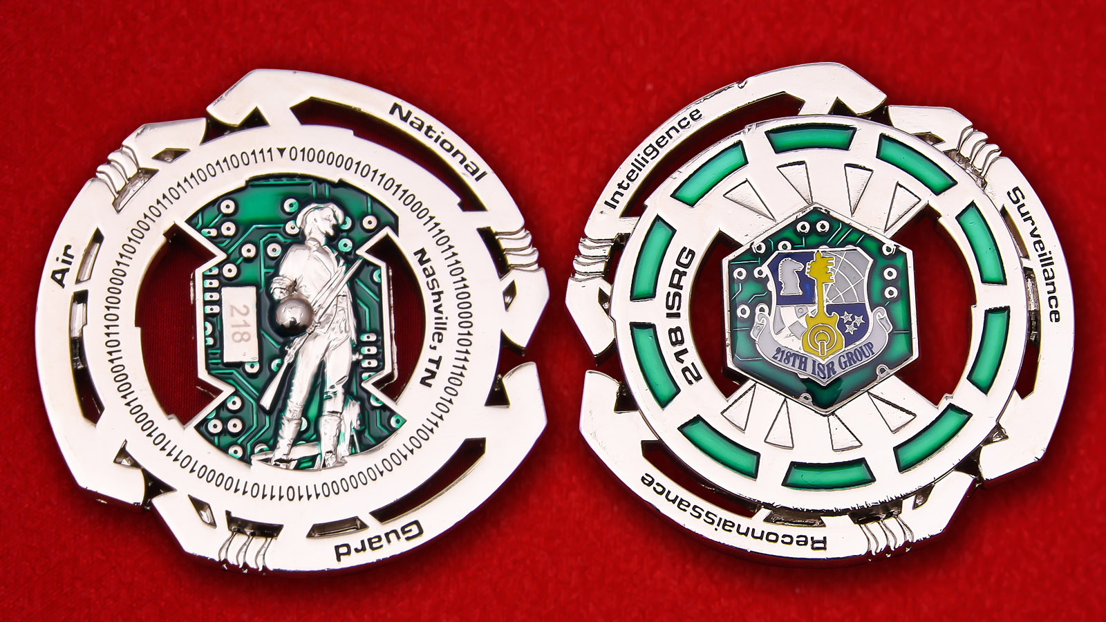 218th ISR Group Of National Guard Bureau Challenge Coin