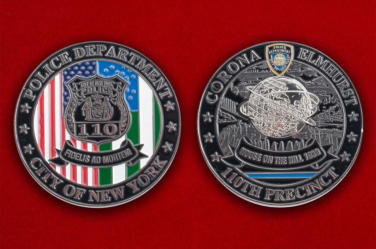 """Челлендж коин """"110-й участок Управления полиции Нью-Йорка"""""""
