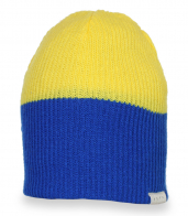 Яркая двухцветная шапка с логотипом Neff