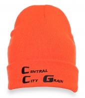 Яркая теплая шапочка для девушек