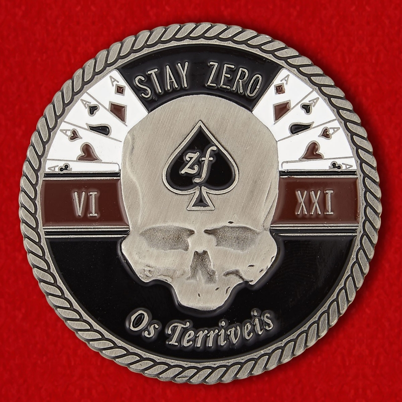 "32nd Battalion Motto ""Terrible Ones"" Of The Rhodesian Bush War Challenge Coin - reverse"