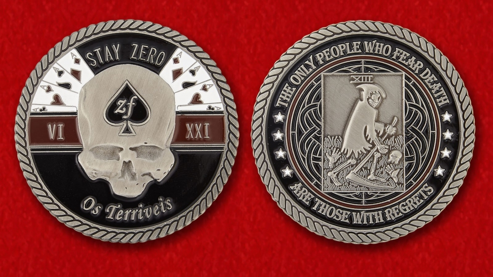 "32nd Battalion Motto ""Terrible Ones"" Of The Rhodesian Bush War Challenge Coin - both sides"