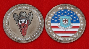 407th Expeditionary Operations Support Sqyadron Challenge Сoin - obverse and reverse