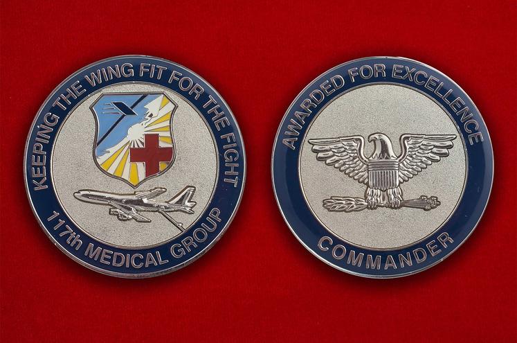 """Челлендж коин """"117-я медицинская группа ВВС США"""""""