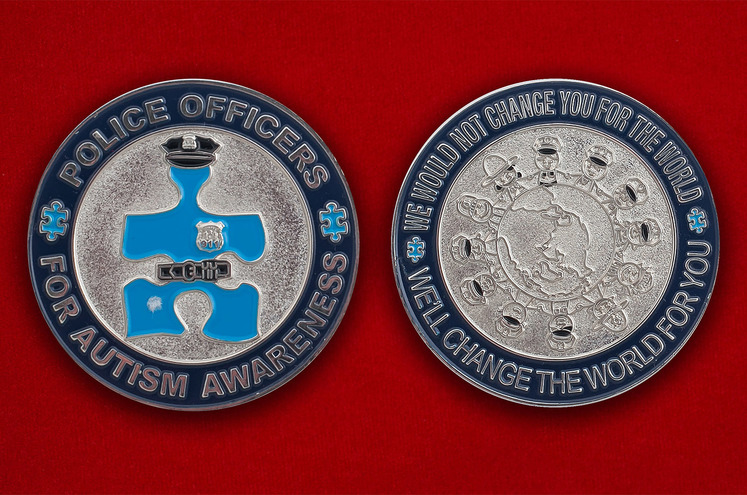 """Челлендж коин офицеров полиции США """"За повышенную боевую готовность"""""""