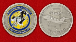 48TH Flying Trainng, SQ Challenge Сoin - obverse and reverse