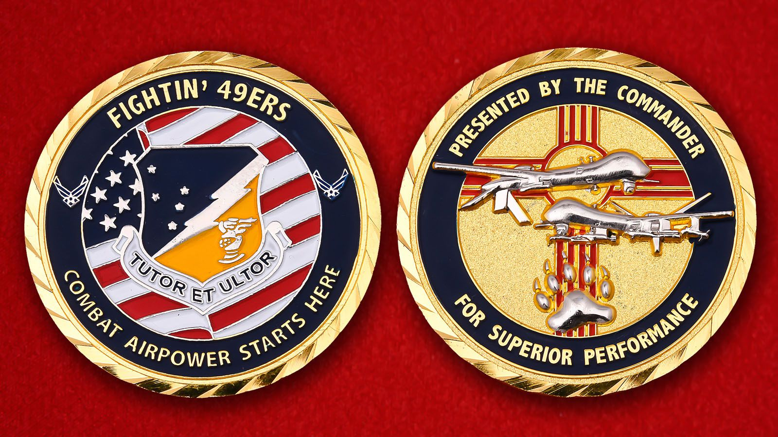 49th Wing Challenge Coin  - obverse and reverse