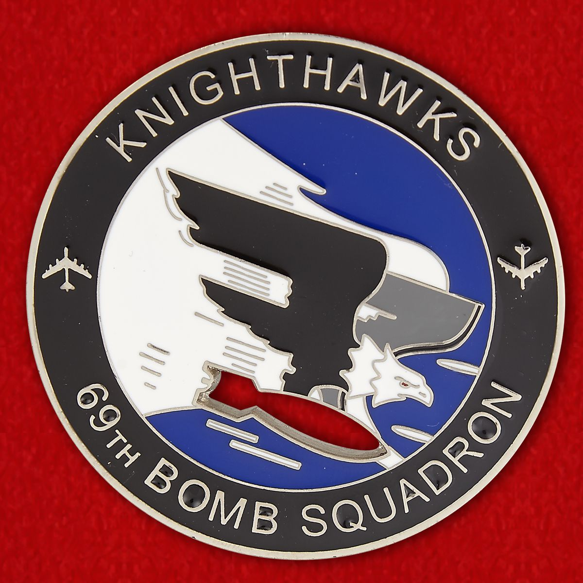 """69th Bomb Squadron """"Knighthawks"""" Challenge Coin"""