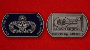 78th Civil Engineer Group Robins AFB, Georgia Challenge Coin - both sides