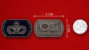 78th Civil Engineer Group Robins AFB, Georgia Challenge Coin - linear size