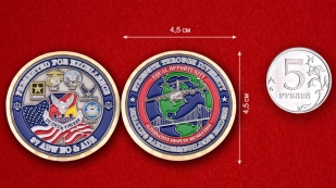 87 ABW EO&ADR Challenge Coin - obverse and reverse