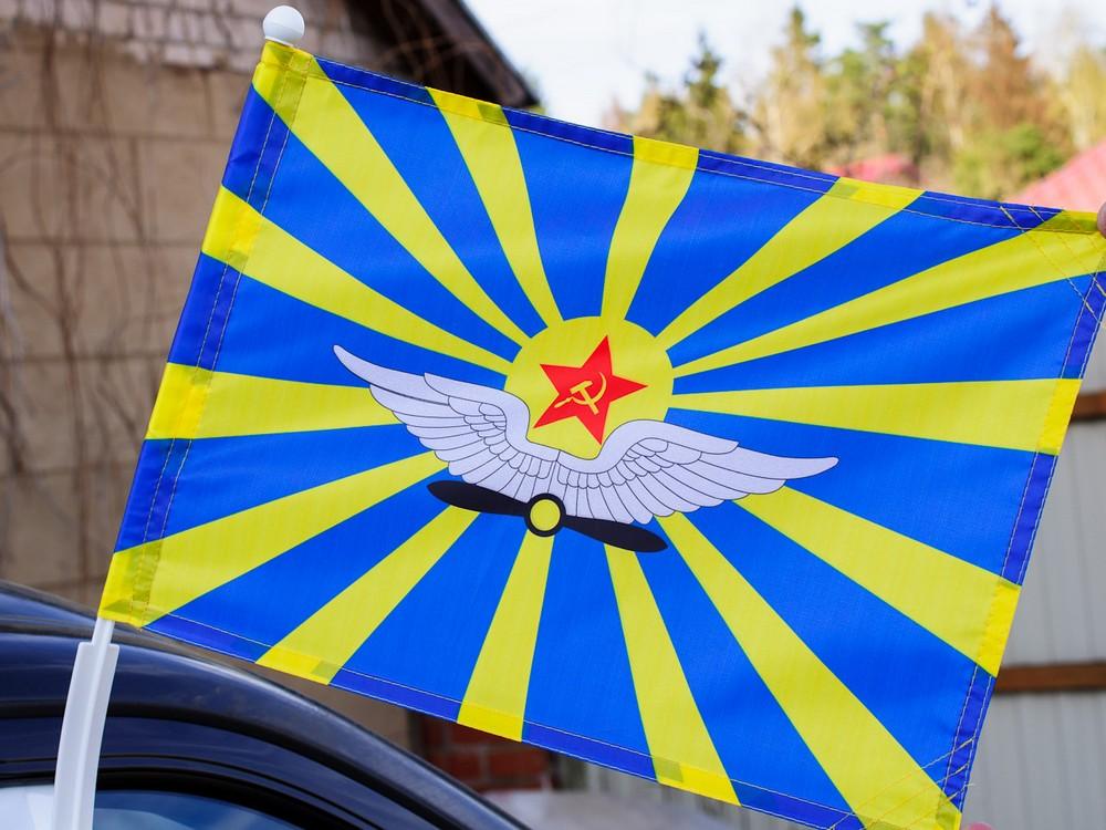 Флаг на машину с кронштейном ВВС СССР