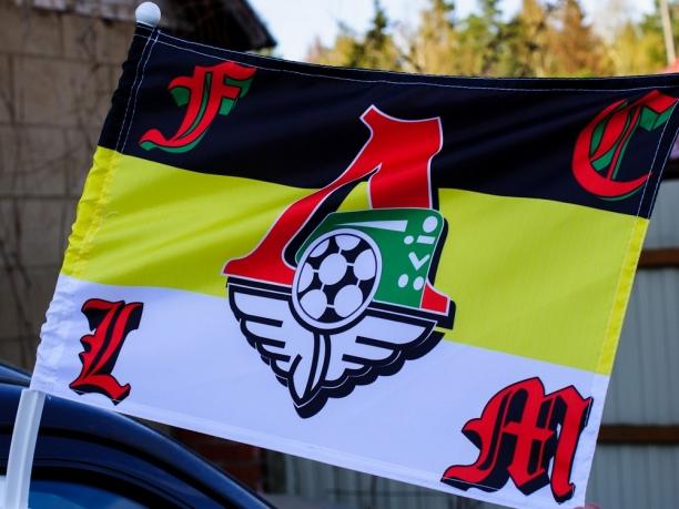 Флаг на машину с кронштейном Имперка Логомотив