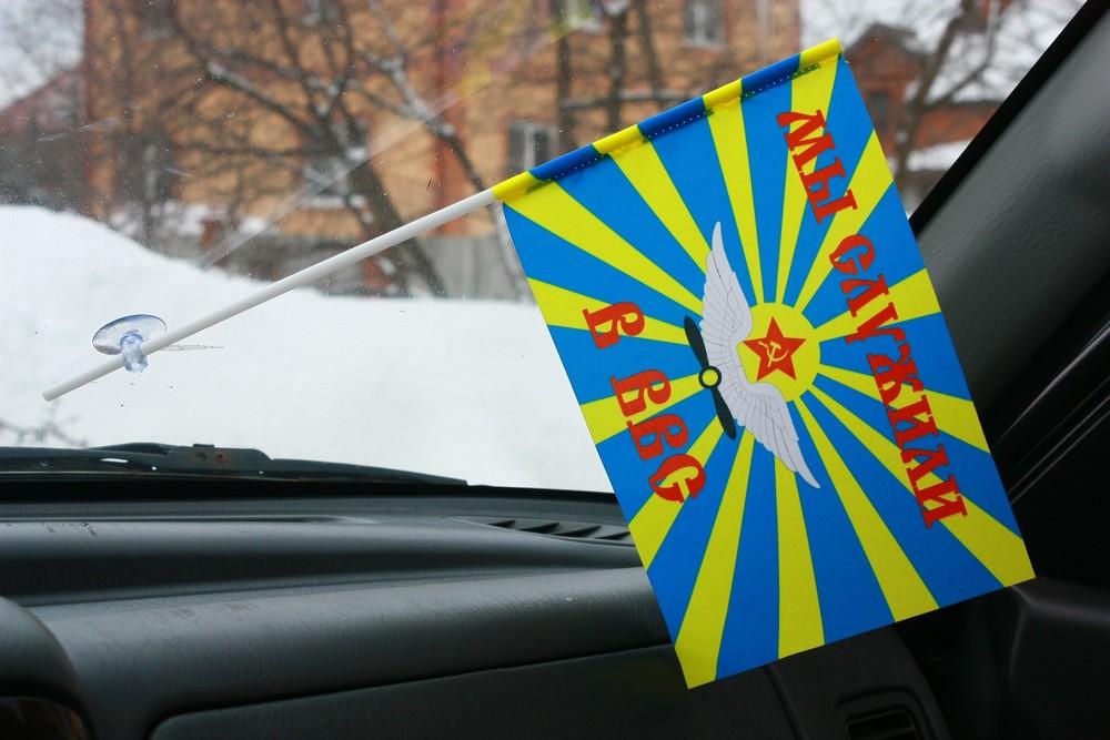 Флажок в машину с присоской «Мы служили в ВВС СССР»