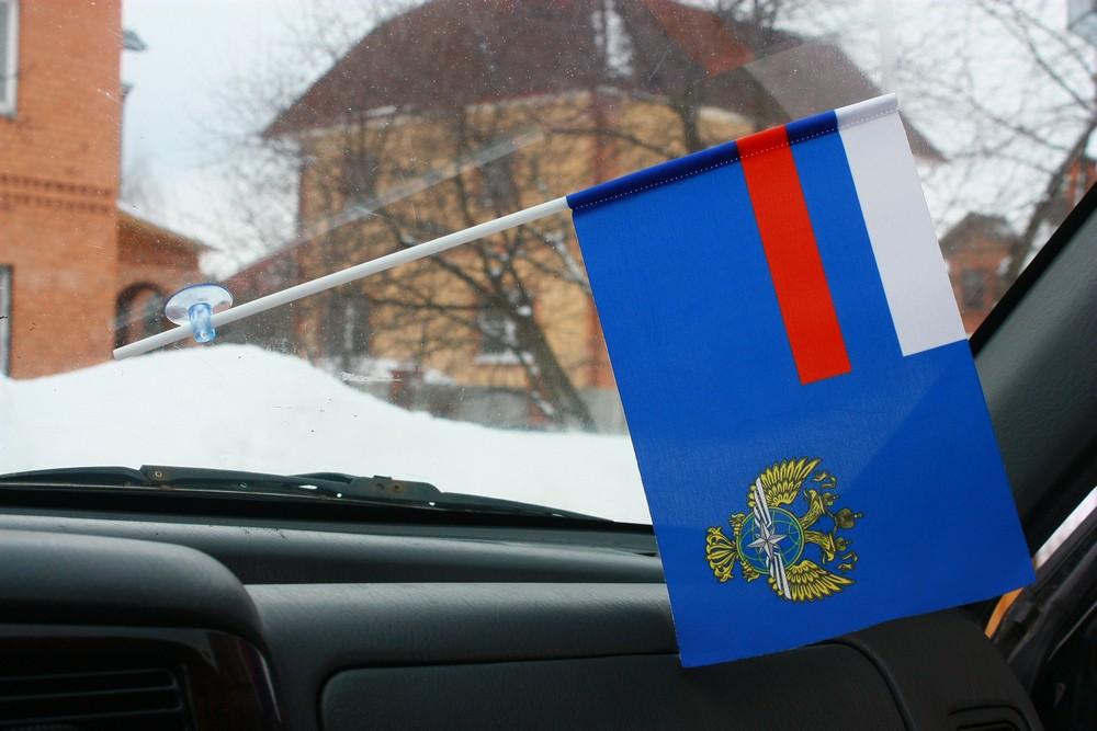Флажок в машину с присоской Министерство транспорта