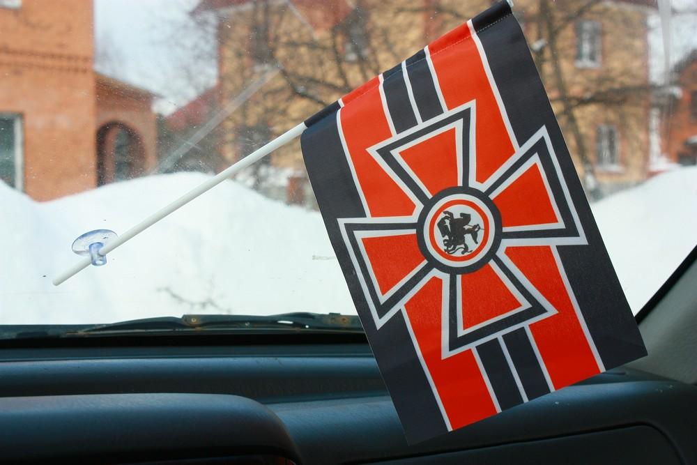 Флажок в машину с присоской Георгиевский