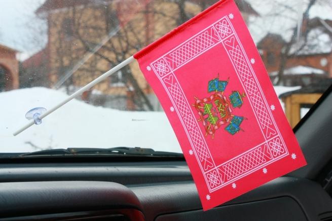 Флажок в машину с присоской Знамя кубанского казачьего войска