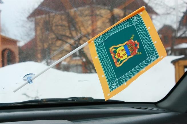 Флажок в машину с присоской Знамя забайкальское казачье войско