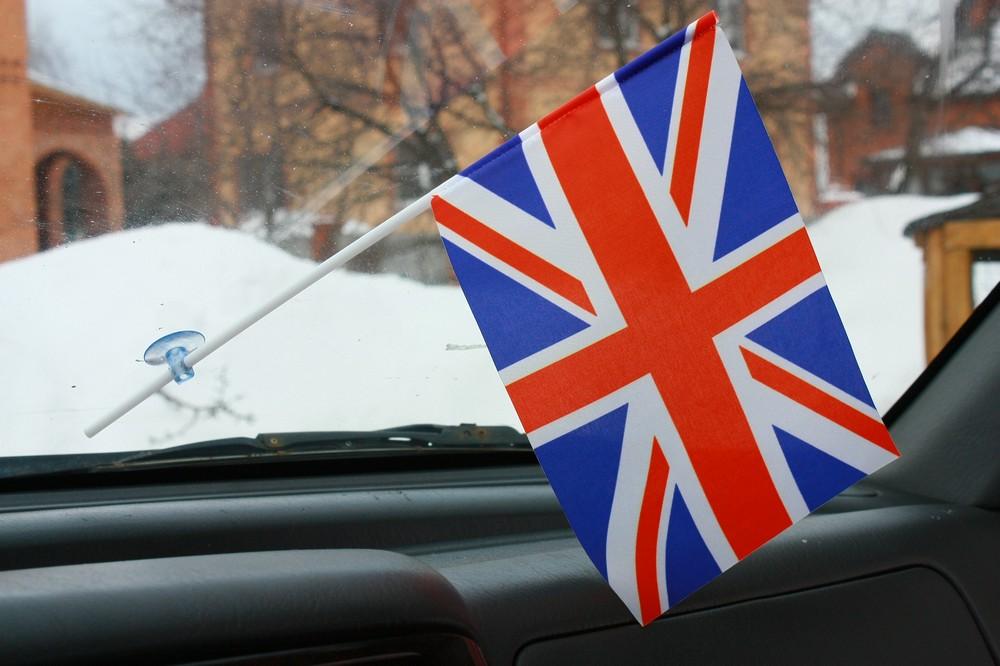 Флажок в машину с присоской Великобритания