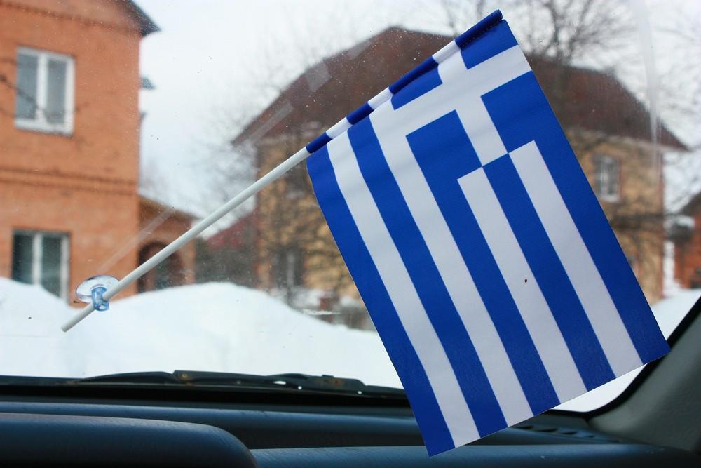 Флажок Греции в машину с присоской по акции