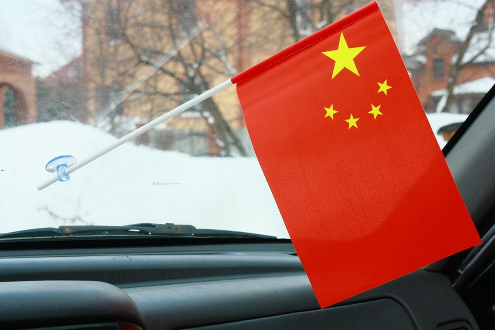 Флажок в машину с присоской Китай