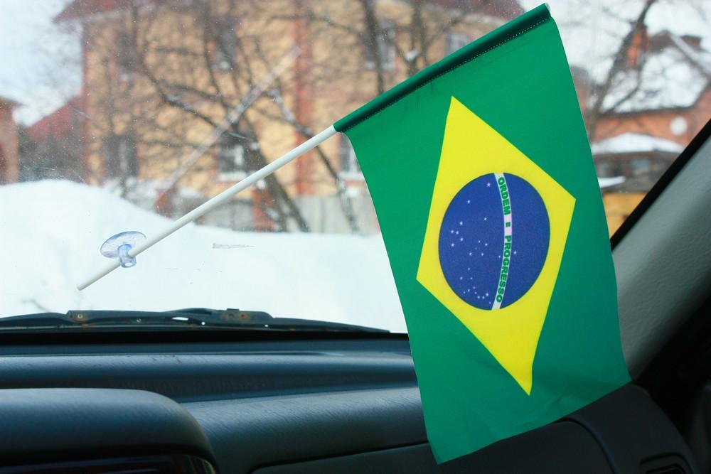 Флажок в машину Бразилия