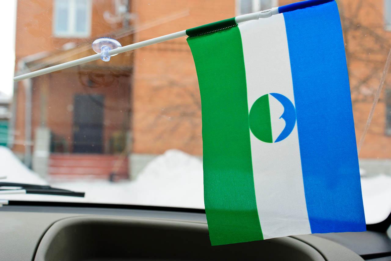 Флажок в машину с присоской Кабардино-балкария
