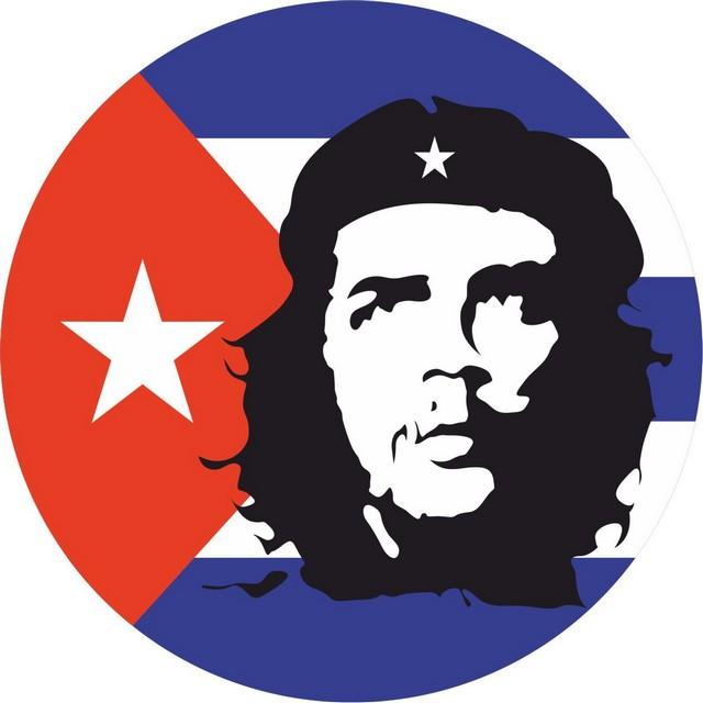 Наклейка с флагом Кубы «Че Гевара»