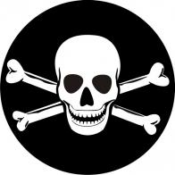 Наклейка «Флаг Пиратский»