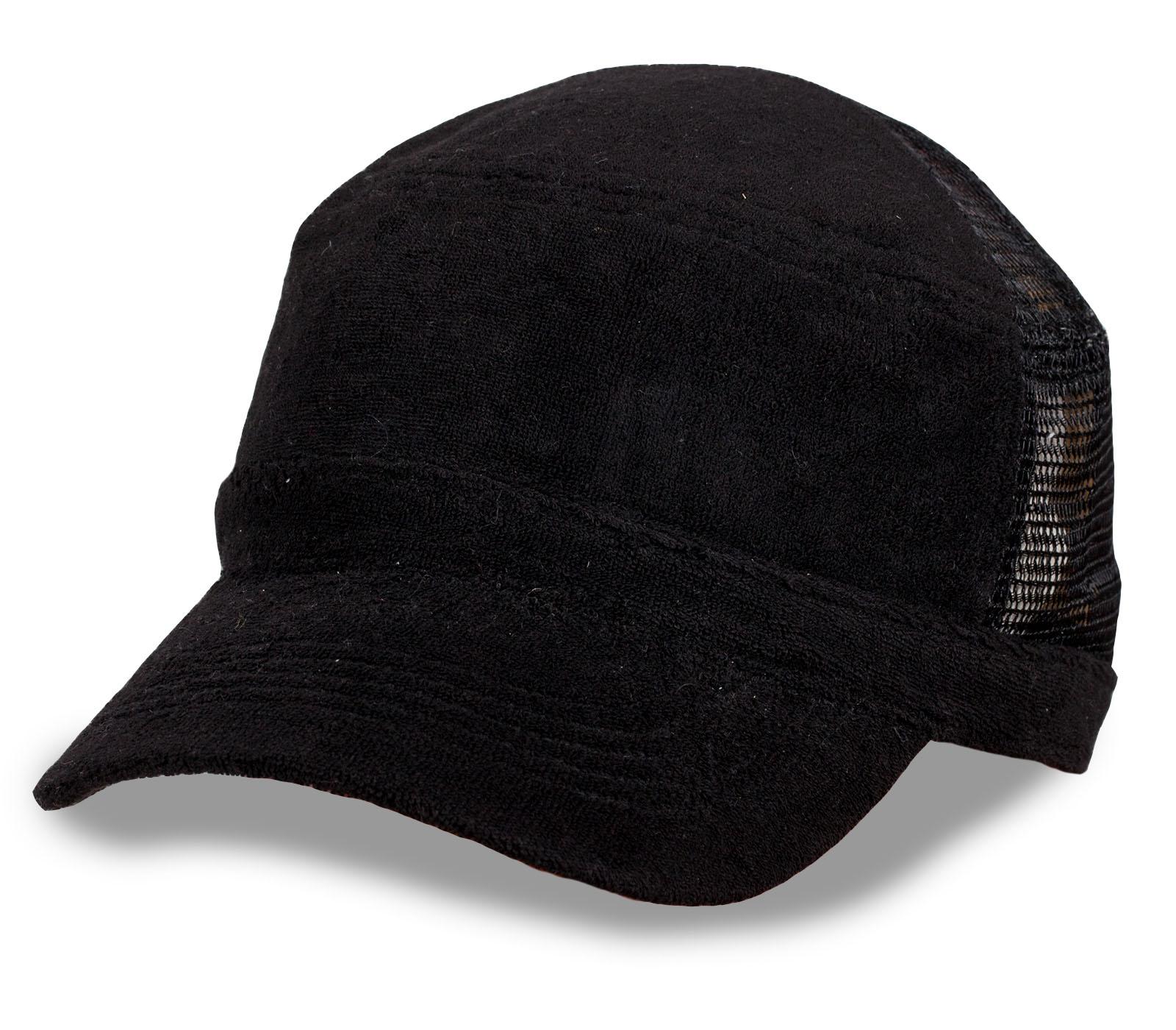 Однотонная черная кепка