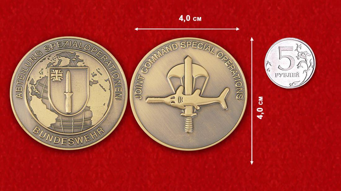 Abteilung Spezialoperationen Bundeswehr Challenge Coin comparative size