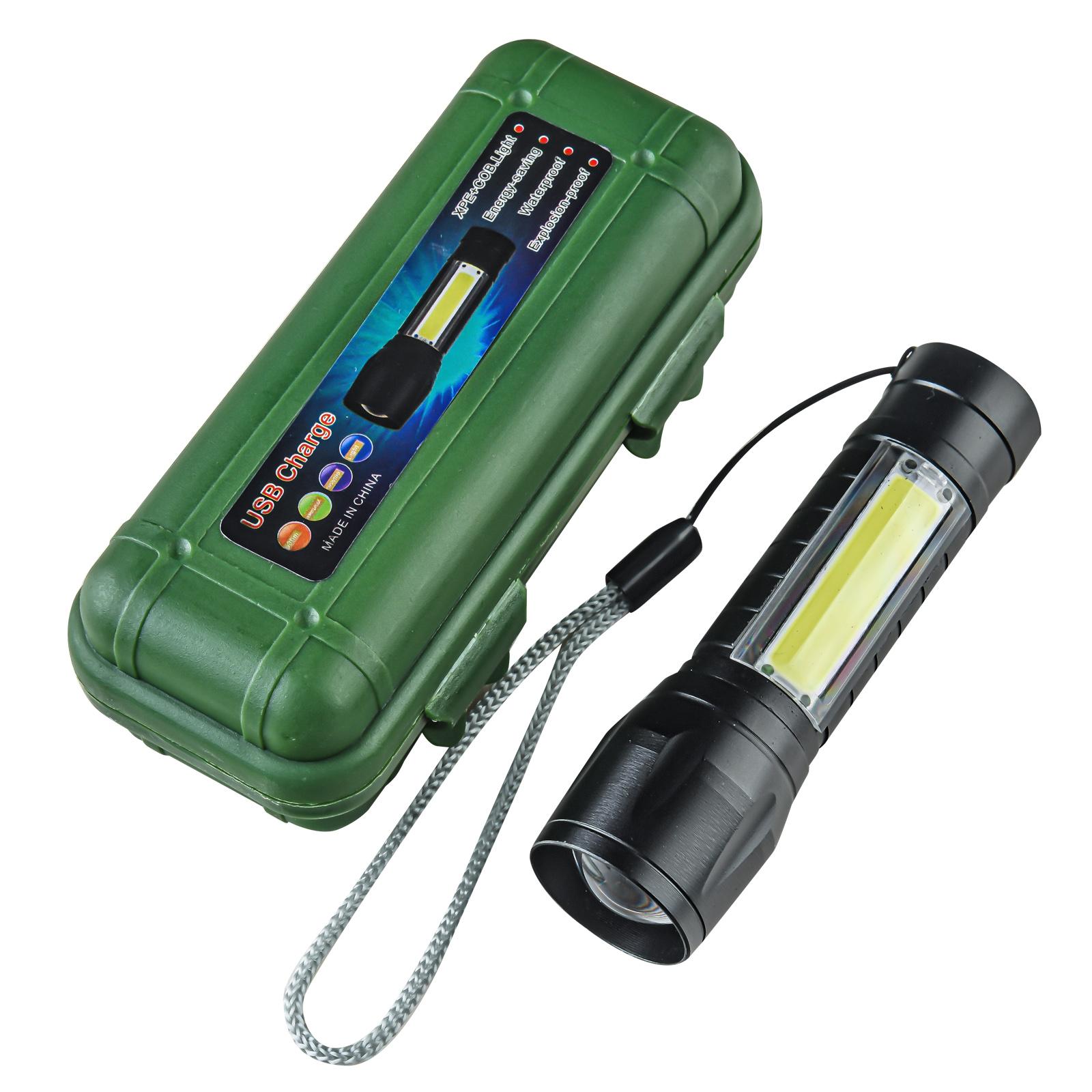 Аккумуляторный светодиодный фонарь COB/XPE