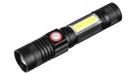 Аккумуляторный светодиодный фонарь с магнитным креплением XML-T6 + COB
