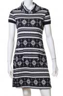 Аккуратное черно-белое платье по фигуре