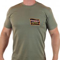 """Актуальная футболка с термотрансфером """"Победа"""""""