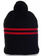 Актуальная мужская шапочка с помпоном для спорта и активного отдыха