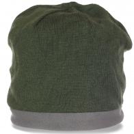 Актуальная теплая мужская шапка на флисе