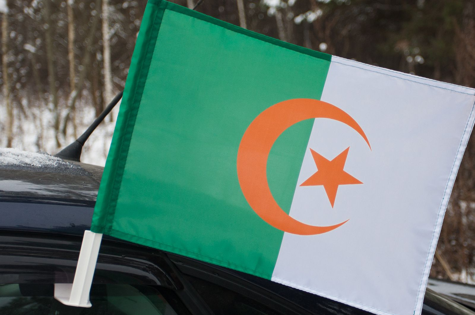 Алжирский флаг на машину