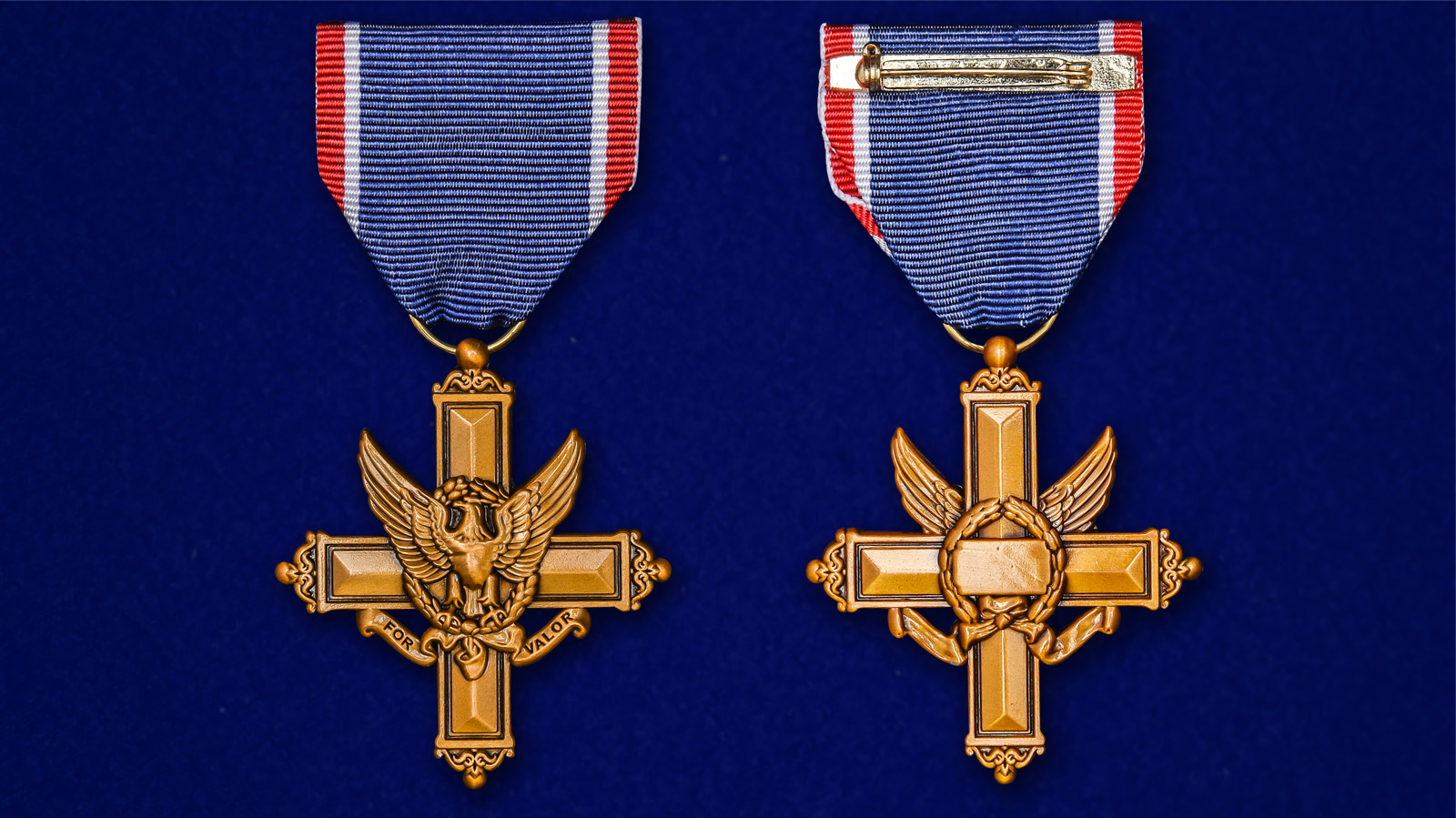 Американский латунный Крест За выдающиеся заслуги - аверс и реверс