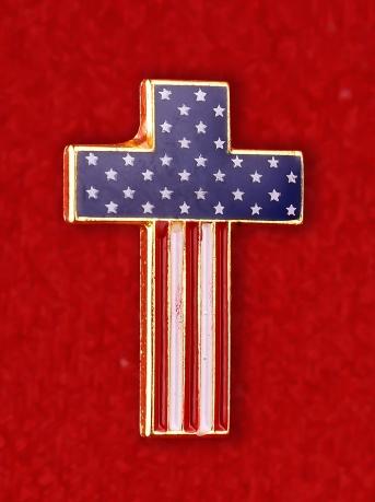 """Американский значок """"Крест"""""""