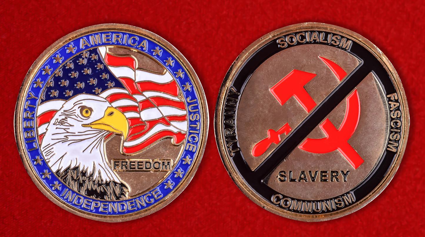 """Американский значок """"Свобода или рабство"""""""