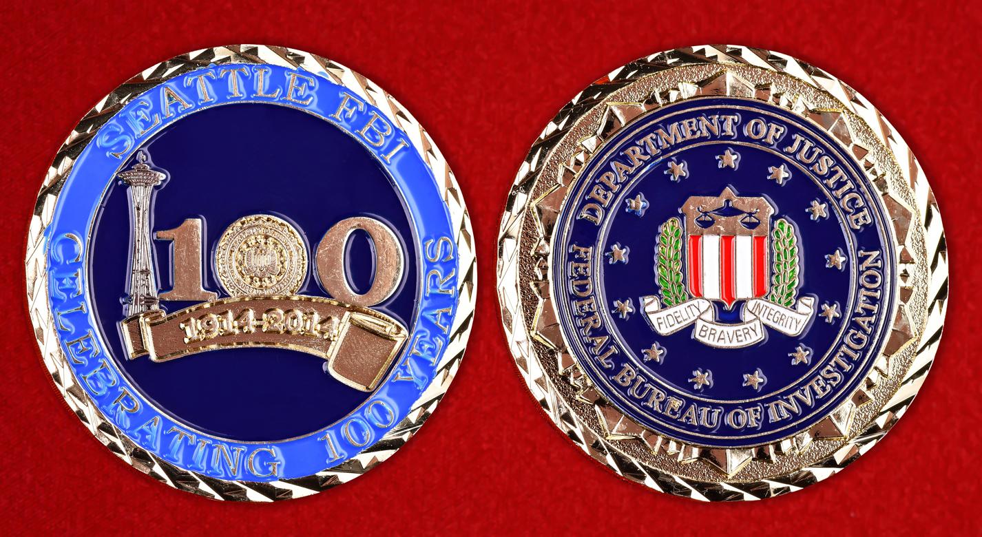 """Американский знак """"100 лет ФБР Сиэтла"""""""