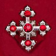 """Амулет """"Крест кросслет"""" с камнями"""