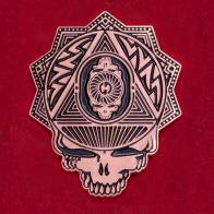 Фанатский значок Grateful Dead - Steal Your Face с черепом