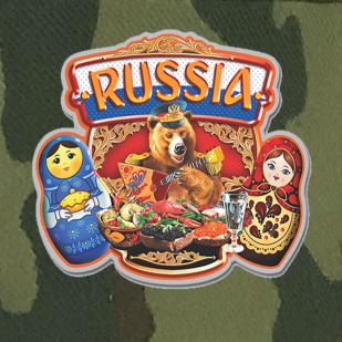 Армейская кепка Russia с медведем и матрёшками