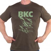 Армейская футболка с принтом ВКС