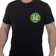 Армейская черная футболка с вышивкой Морчасти погранвойск ФПС - купить оптом
